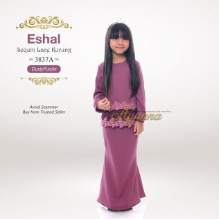 Eshal Sequin Lace Kurung 3837A (DustyPurple)