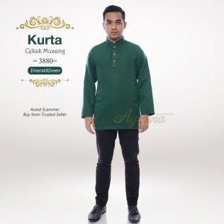 Kurta Cekak Musang 3880 (EmeraldGreen)