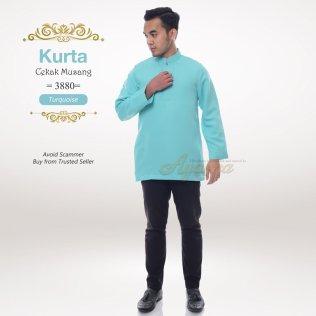 Kurta Cekak Musang 3880 (Turquoise)