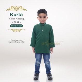 Kurta Cekak Musang 3884 (EmeraldGreen)
