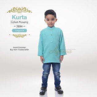 Kurta Cekak Musang 3884 (Turquoise)