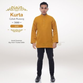 Kurta Cekak Musang 3880 (Gold)