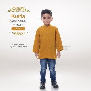 Kurta Cekak Musang 3884 (Gold)