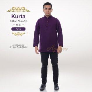 Kurta Cekak Musang 3880 (Purple)
