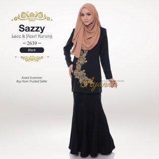 Sazzy Lace & Pearl Kurung 2639 (Black)