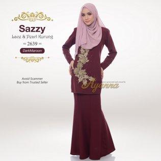 Sazzy Lace & Pearl Kurung 2639 (DarkMaroon)