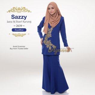 Sazzy Lace & Pearl Kurung 2639 (RoyalBlue)