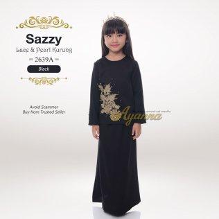 Sazzy Lace & Pearl Kurung 2639A (Black)