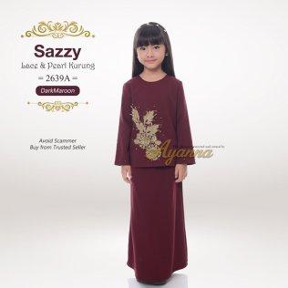 Sazzy Lace & Pearl Kurung 2639A (DarkMaroon)