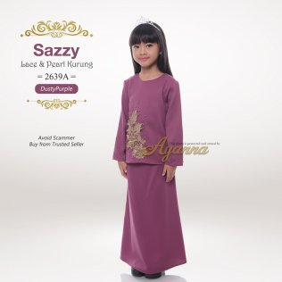 Sazzy Lace & Kurung 2639A (DustyPurple)