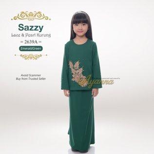 Sazzy Lace & Pearl Kurung 2639A (EmeraldGreen)