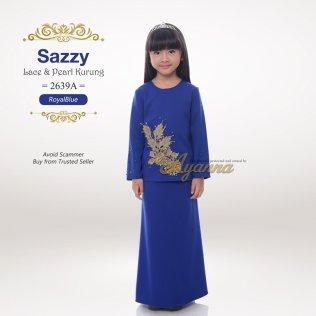 Sazzy Lace & Pearl Kurung 2639A (RoyalBlue)
