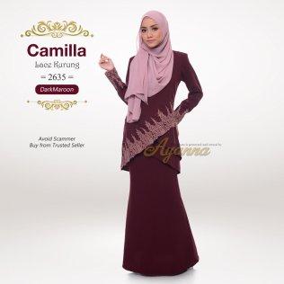 Camilla Lace Kurung 2635 (DarkMaroon)