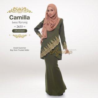 Camilla Lace Kurung 2635 (OliveGreen)