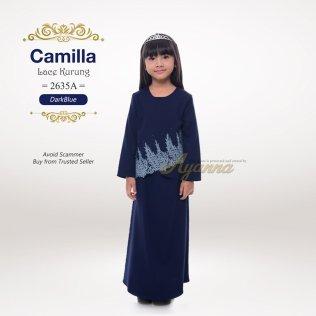 Camilla Lace Kurung 2635A (DarkBlue)