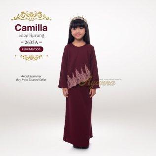 Camilla Lace Kurung 2635A (DarkMaroon)