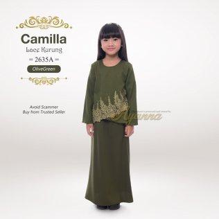Camilla Lace Kurung 2635A (OliveGreen)