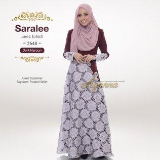 Saralee Lace Jubah 2648 (DarkMaroon)