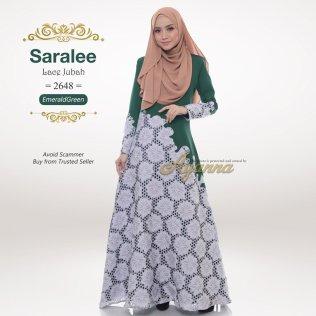 Saralee Lace Jubah 2648 (EmeraldGreen)