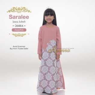 Saralee Lace Jubah 2648A (DustyPink)