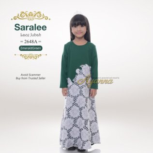 Saralee Lace Jubah 2648A (EmeraldGreen)