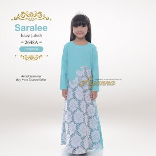 Saralee Lace Jubah 2648A (Turquoise)
