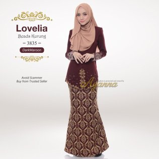 Lovelia Beads Kurung 3835 (DarkMaroon)