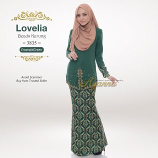 Lovelia Beads Kurung 3835 (EmeraldGreen)