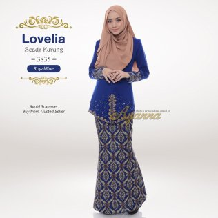 Lovelia Beads Kurung 3835 (RoyalBlue)