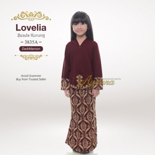 Lovelia Beads kurung 3835A (DarkMaroon)