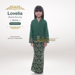 Lovelia Beads kurung 3835A (EmeraldGreen)