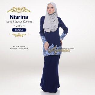 Nisrina Lace & Beads Kurung 2650 (DarkBlue)