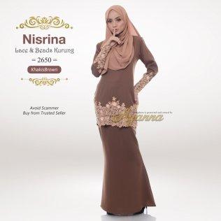 Nisrina Lace & Beads Kurung 2650 (KhakisBrown)