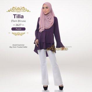 Tilla Plain Blouse 2627 (Purple)
