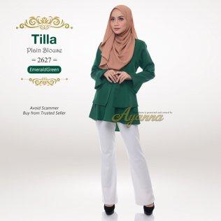 Tilla Plain Blouse 2627 (EmeraldGreen)