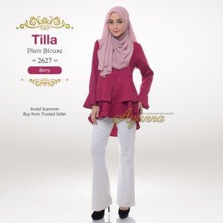 Tilla Plain Blouse 2627 (Berry)