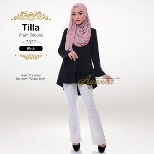Tilla Plain Blouse 2627 (Black)