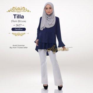 Tilla Plain Blouse 2627 (DarkBlue)