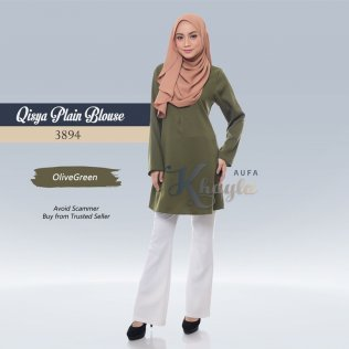 Qisya Plain Blouse 3894 (OliveGreen)