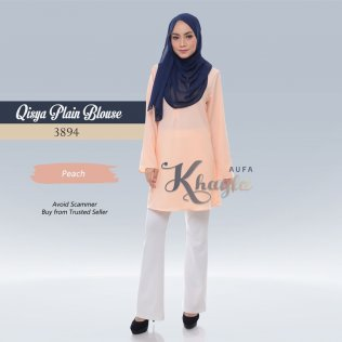 Qisya Plain Blouse 3894 (Peach)