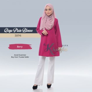 Qisya Plain Blouse 3894 (Berry)