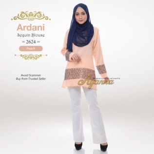 Ardani Sequin Blouse 2624 (Peach)