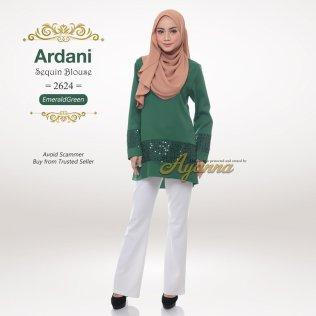 Ardani Sequin Blouse 2624 (EmeraldGreen)