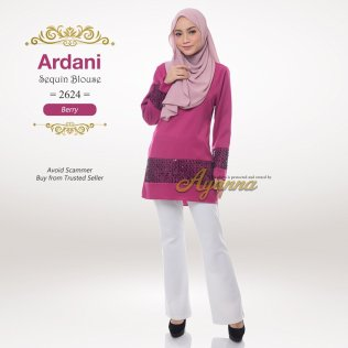 Ardani Sequin Blouse 2624 (Berry)