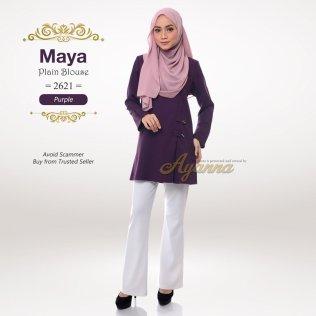 Maya Plain Blouse 2621 (Purple)