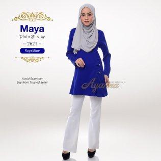 Maya Plain Blouse 2621 (RoyalBlue)