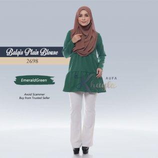 Balqis Plain Blouse 2698 (EmeraldGreen)
