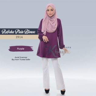Rafisha Plain Blouse 3914 (Purple)