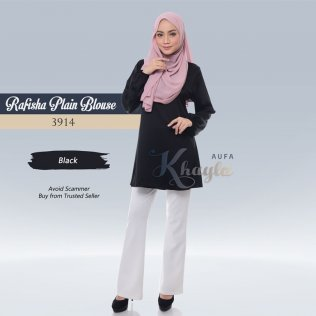 Rafisha Plain Blouse 3914 (Black)