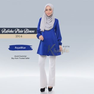Rafisha Plain Blouse 3914 (RoyalBlue)